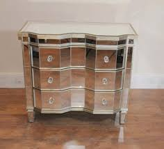 mirrored chest drawers crinkle art deco cabinet for bedroom tv