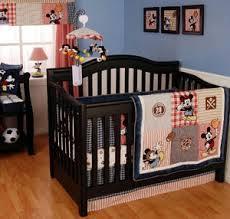 Sports Theme Crib Bedding Baby Boy Mickey Mouse Allstar Sports Baseball Basketball Soccer