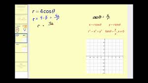converting polar equations to rectangular equations youtube