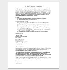 sample thank you letter after interview great executive assistant
