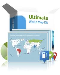 editable powerpoint world map kit map templates with continents