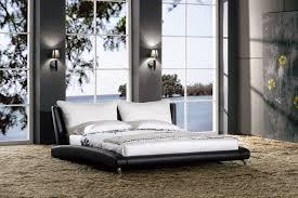 Bed Headrest Modern Platform Bed With Pillowtop Headrest Cp B1111