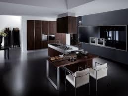 wondrous black kitchen cabinet design idea with cream counter
