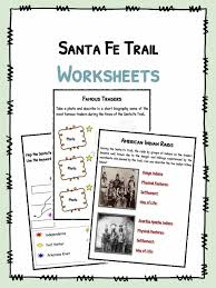 santa fe trail facts worksheets u0026 historical information for kids