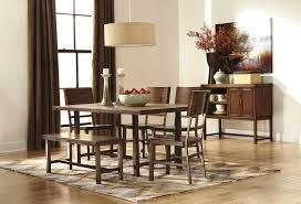 ashley furniture u2013 trishelle rectangular dining room table dining room alluring ashley furniture dining room sets rectangle brown wood dining table brown metal fame