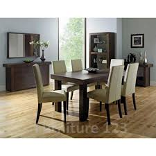 Bentley Designs Akita Walnut Dining Room Furniture Set With - Walnut dining room chairs