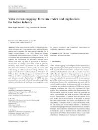 value stream mapping literature review and implications for