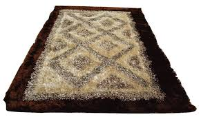 Shaggy Cream Rug Dada Bedding U0027s Super Soft Geometric Shaggy Cream Carpet Rug 55