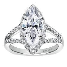 marquise halo engagement ring 14k white gold marquise split shank halo engagement ring