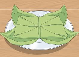 4 ways to fold table napkins wikihow