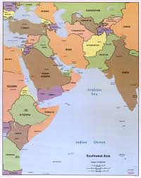 North Africa Southwest Asia And Central Asia Map by Sw Asia Map My Blog