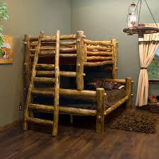 Rustic Log Bedroom Furniture Aspen Mountain Log Bunk Bed Log Bedroom Furniture Bunk Bed And