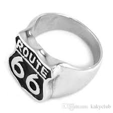 route 66 wedding band route 66 ring road usa highway motor biker ring stainless