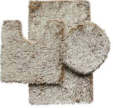 bath mats set 3 shiny chenille bath rug set includes rug contour and lid