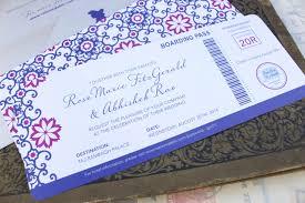boarding pass wedding invitations moroccan boarding pass wedding invitation india