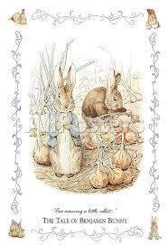 rabbit poster beatrix potter the tale of benjamin bunny poster print