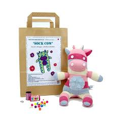 sock cow craft kit by sock creatures notonthehighstreet