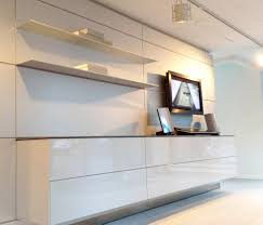 b3 wall hung unit in high gloss white lacquer finish complemented