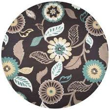 Brown Round Rugs Dark Brown Round Outdoor Rugs Rugs The Home Depot