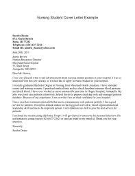 cover letter nursing exle of cover letter for nursing student resume cover letter
