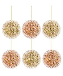 gold and copper beaded pearl ornaments tree classics