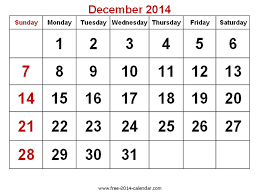december 2014 calendar printable pdf printable calendar 2014