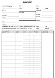 Call Sheet Template Cinema Forms Call Sheet Production Forms App
