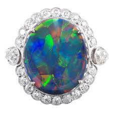 opal rings jewelry images Lightning ridge black opal and diamond french ring at 1stdibs jpg