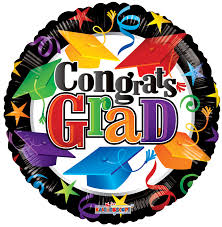 18 congrats grad colorful caps balloon