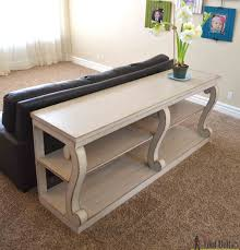 console table with scroll legs her tool belt