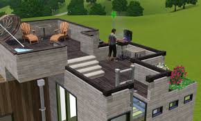 mod the sims tiny modern town house base game and cc free