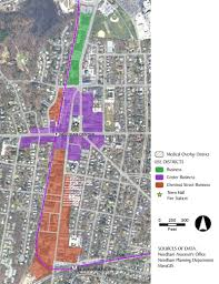 Boston Zoning Map by Needham Center Zoning Community Opportunities Group Inc