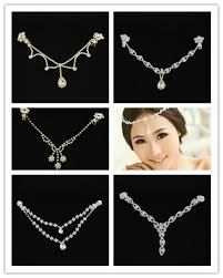 hair accessories for indian weddings indian wedding hair accessories brass rhinestone bridal frontlets