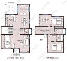 villa plans and drawings projected house prefab home designs view