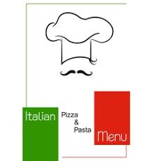 funny italian restaurant menu design template vector image