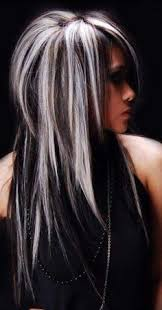 silver brown hair silver hair w black would look sooo hot with some lavender i