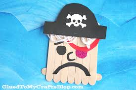 popsicle stick pirate kid craft glued to my crafts