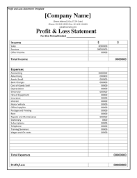 Project Profit And Loss Template Excel Profit And Loss Statement Form Thebridgesummit Co