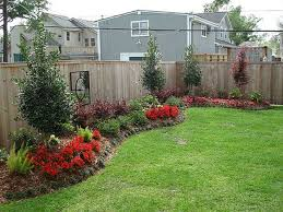 Landscaped Backyard Ideas Backyard Fence Landscaping Ideas Pictures Inexpensive
