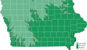 Iowa mountains images Iowa physical map and iowa topographic map gif