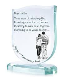3rd wedding anniversary gifts beautiful third wedding anniversary gift ideas for husband ideas
