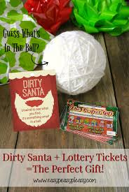 dirty santa lottery tickets u003d the perfect gift easy peasy pleasy