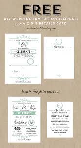 free wedding invitations free diy wedding invitation templates amulette jewelry