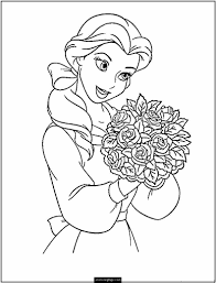 princess belle coloring pages ngbasic com