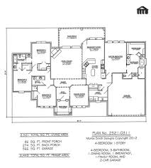 His And Her Bathroom Floor Plans One Story Open Floor Plans With 4 Bedrooms Bedroom 1 Story 3