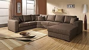 canapé d angle amazon canape d angle 6 places oara brun clair angle droit by meublesline