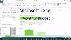 Monthly Budget Excel Spreadsheet How To Make A Monthly Budget In Excel Tutorial Youtube