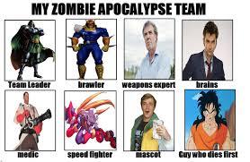 Zombie Team Meme - image 635454 my zombie apocalypse team know your meme