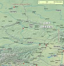 Time Zone Maps Czech Republic Time