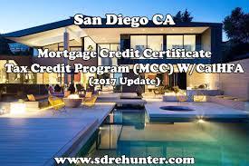 san diego mortgage credit certificate tax credit program mcc w